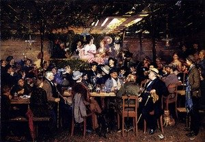 Famous paintings of Taverns: In The Bavarian Beergarden