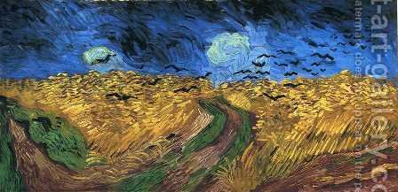 Vincent Van Gogh: Wheatfield with Crows - reproduction oil painting