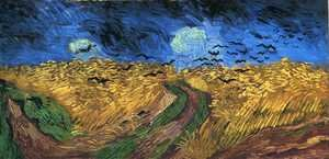 Famous paintings of Clouds & Skyscapes: Wheatfield with Crows