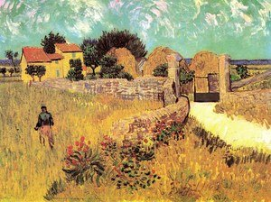 Famous paintings of Fireworks: Farmhouse in Provence