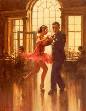 Reproduction oil paintings - Raymond Leech - Dance To The Music