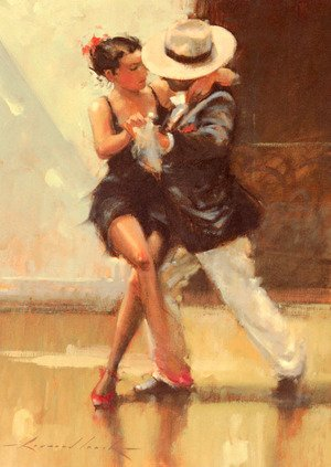 Reproduction oil paintings - Raymond Leech - Put On Your Red Shoes