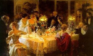 Famous paintings of Still Life: The Dinner Party