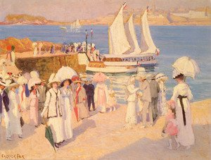 Reproduction oil paintings - Ethel Carrick Fox - The Quay At Dinard