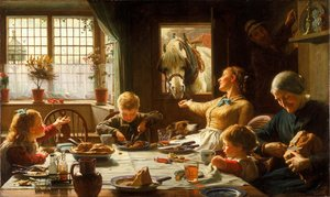 Famous paintings of Horses & Horse Riding: One Of The Family