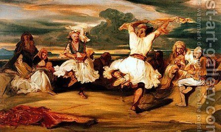 Albanian Dancers by Alexandre Gabriel Decamps - Reproduction Oil Painting