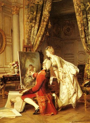 Emile Pierre Metzmacher reproductions - The Artist and his Admirer