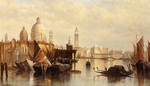 Famous paintings of Ships & Boats: A View Of Venice