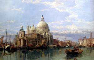 Famous paintings of Ports: The Church Of Santa Maria Della Salute, Venice