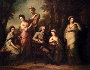 Reproduction oil paintings - Angelica Kauffmann - Portrait Of Philip Tisdal With His Wife And Family
