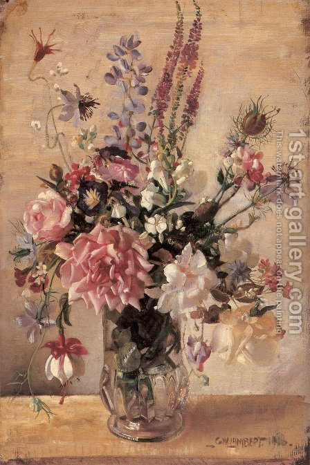George Lambert: A Garden Bunch - reproduction oil painting
