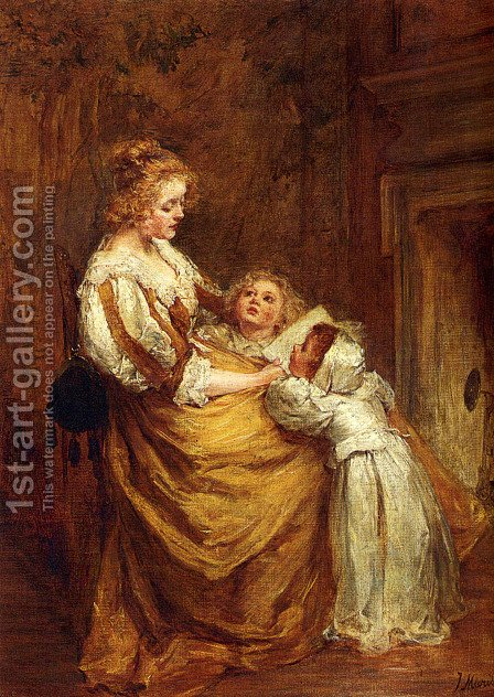 Motherly Love by Jacob Henricus Maris - Reproduction Oil Painting