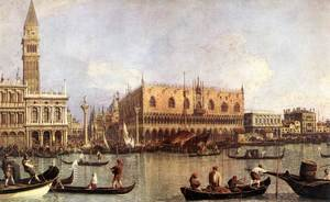 Rococo painting reproductions: Palazzo Ducale and the Piazza di San Marco