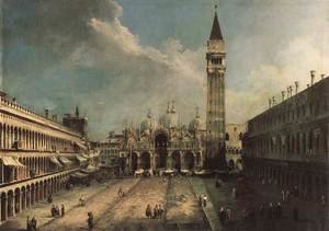 Rococo painting reproductions: Piazza San Marco