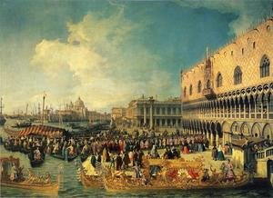 Rococo painting reproductions: Reception of the Ambassador in the Doge's Palace