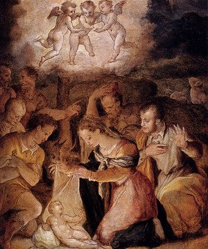 Reproduction oil paintings - Giorgio Vasari - The Nativity With The Adoration Of The Shepherds