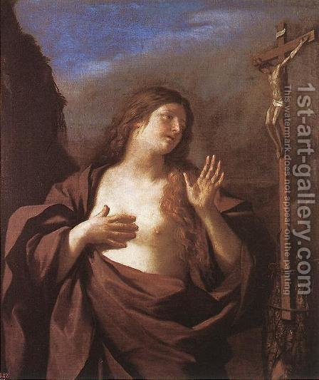 Mary Magdalene in Penitence by Giovanni Francesco Guercino (BARBIERI) - Reproduction Oil Painting