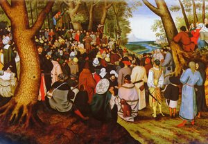 Famous paintings of Trees: A LandScape With Saint John The Baptist Preaching