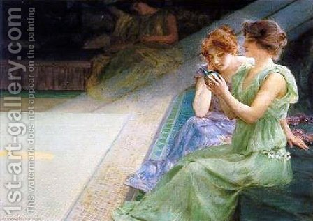 Iridescence by Henry Siddons Mowbray - Reproduction Oil Painting