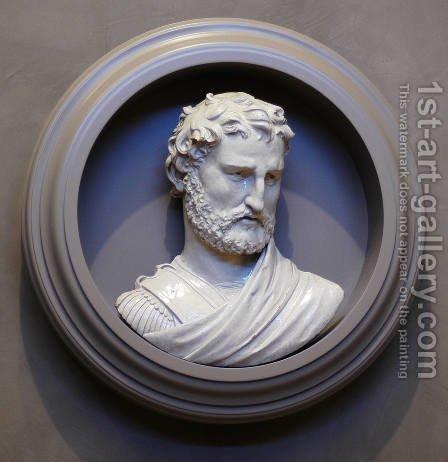 Bust of a Man by Girolamo della Robbia - Reproduction Oil Painting