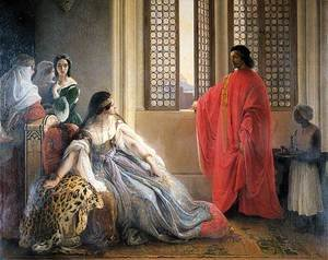 Reproduction oil paintings - Francesco Paolo Hayez - Caterina Cornaro Deposed from the Throne of Cyprus