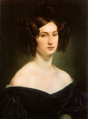Reproduction oil paintings - Francesco Paolo Hayez - Ritratto della contessa Luigia Douglas Scotti d'Adda (Portrait of Countess Luigia Douglas Scotti d'Adda)