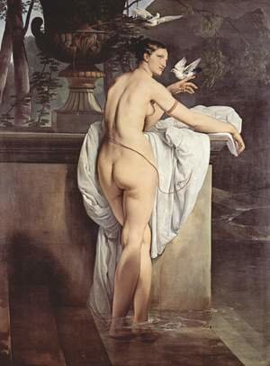Reproduction oil paintings - Francesco Paolo Hayez - Venus Playing with Two Doves