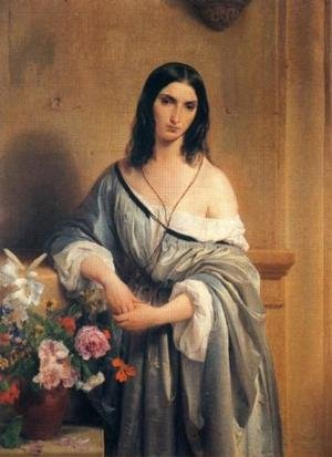 Reproduction oil paintings - Francesco Paolo Hayez - Malinconia (Melancholy)