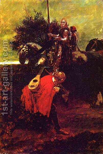 In Knighthood's Day by Howard Pyle - Reproduction Oil Painting