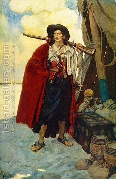The Pirate was a Picturesque Fellow by Howard Pyle - Reproduction Oil Painting