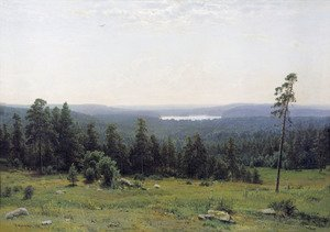 Famous paintings of Trees: A Lakeside Forest