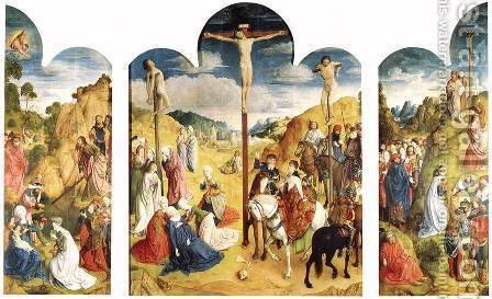 Calvary Triptych by Hugo Van Der Goes - Reproduction Oil Painting