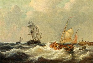 Sailing Vessels In Choppy Waters