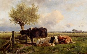 Reproduction oil paintings - Anton Mauve - Resting Cows