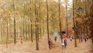 Reproduction oil paintings - Anton Mauve - The Brink In Laren With Children Playing