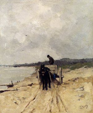 Reproduction oil paintings - Anton Mauve - The Sand-Cart
