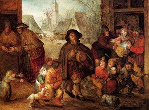 David Vinckboons reproductions - The Blind Hurdy Gurdy Player