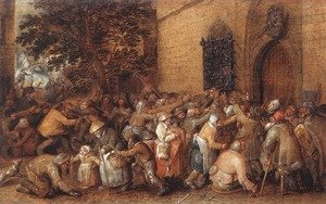 David Vinckboons reproductions - Distribution of Loaves to the Poor