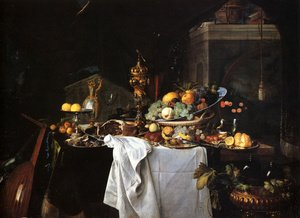 Famous paintings of Desserts: Still Life Of Dessert
