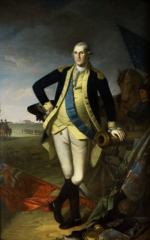 Famous paintings of Horses & Horse Riding: George Washington At Princeton
