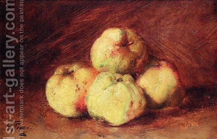 A Still Life With Apples by Guillaume-Romain Fouace - Reproduction Oil Painting