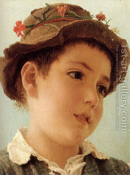 Peasant Boy From Capri by Adriano Bonifazi - Reproduction Oil Painting