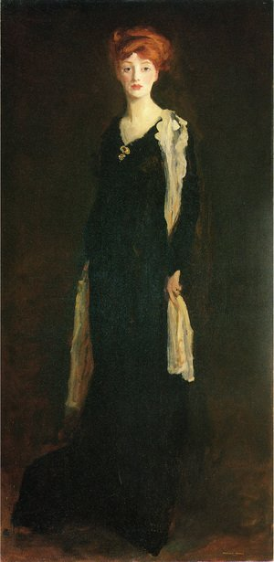 Reproduction oil paintings - Robert Henri - O in Black with Scarf (or Marjorie Organ Henri)