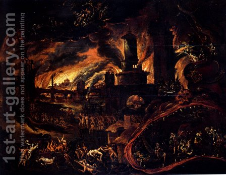 Hell Scene by Jacob Isaacsz - Reproduction Oil Painting