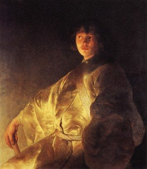 Reproduction oil paintings - Jan Lievens - Self-Portrait (?) in a Yellow Robe