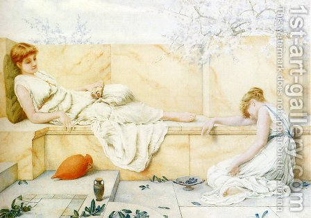 Two Classical Figures Reclining by Henry Ryland - Reproduction Oil Painting