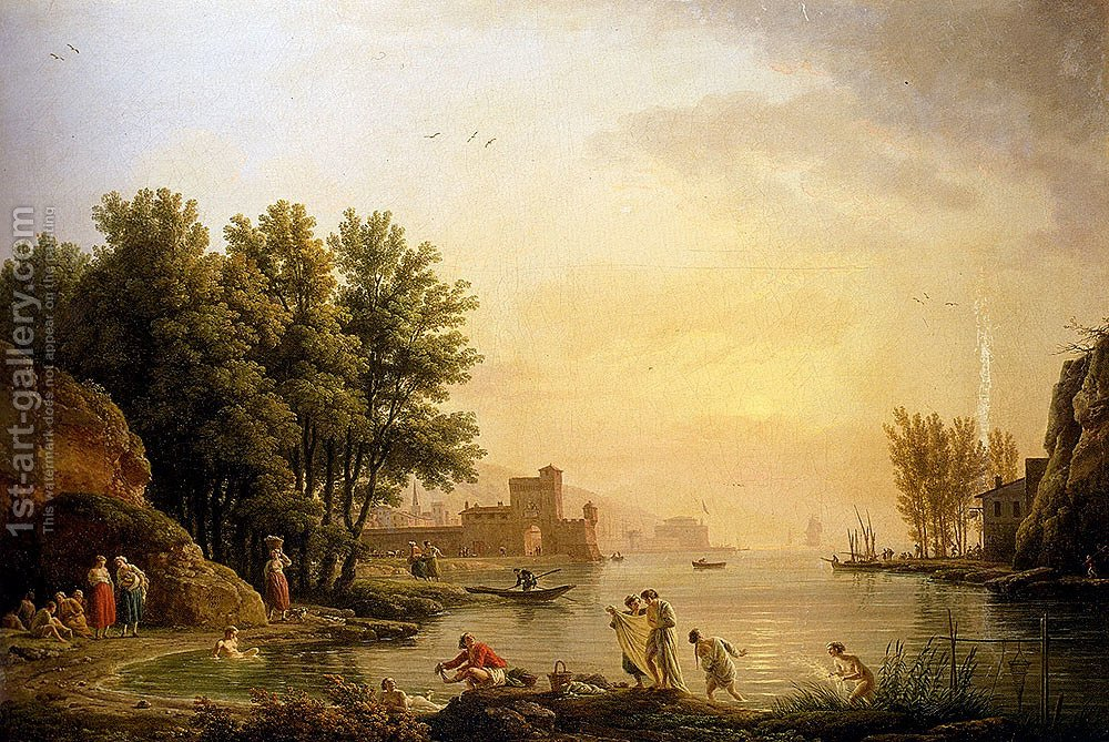 Huge version of Landscape With Bathers