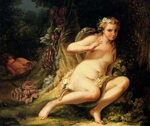 Jean-Baptiste-Marie Pierre reproductions - The Temptation Of Eve