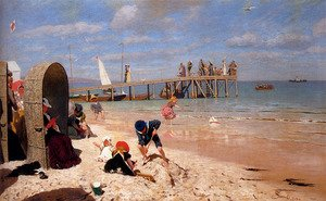 Wilhelm Simmler reproductions - A Sunny Day At The Beach