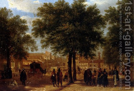 Vista de Madrid desde el principio de la calle Serrano by Guiseppe Canella - Reproduction Oil Painting